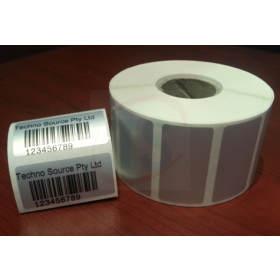 Matt Silver Polyester - 37 x 19mm Pre printed labels