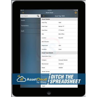 Wasp AssetCloud Software Application and Mobile App (5-Users, 1 Year Subscription)