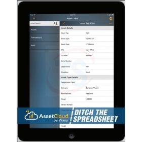 Wasp AssetCloud Software Application and Mobile App (10-Users, 1 Year Subscription)