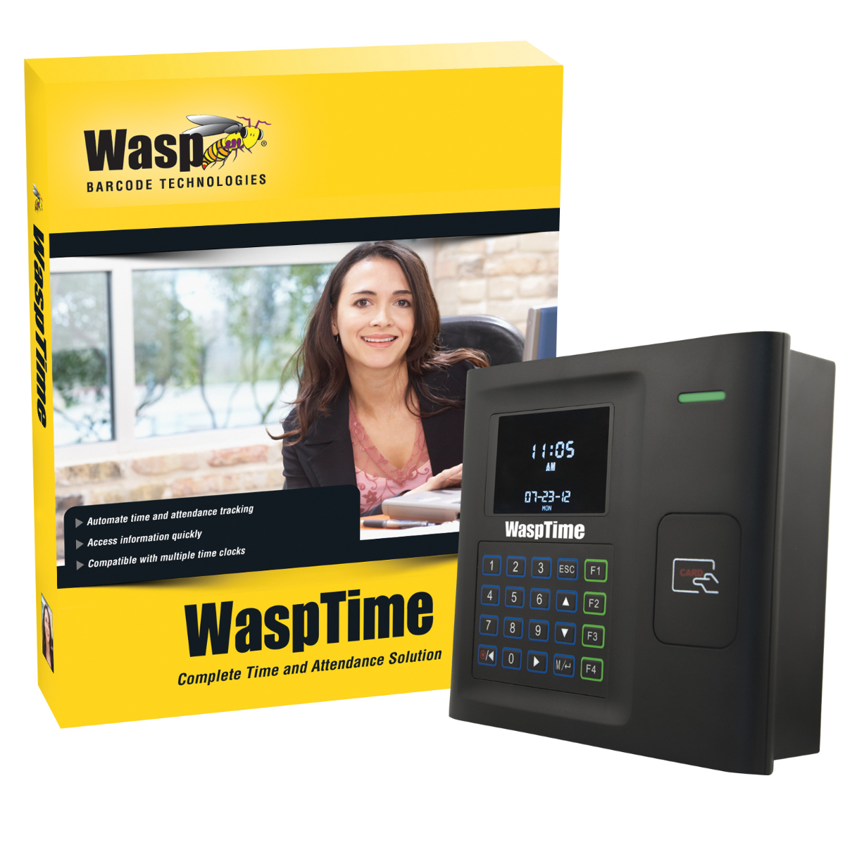 WaspTime V7 Professional W/ Barcode Clock
